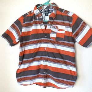 Volcom stripped button down shirt Youth Large GUC